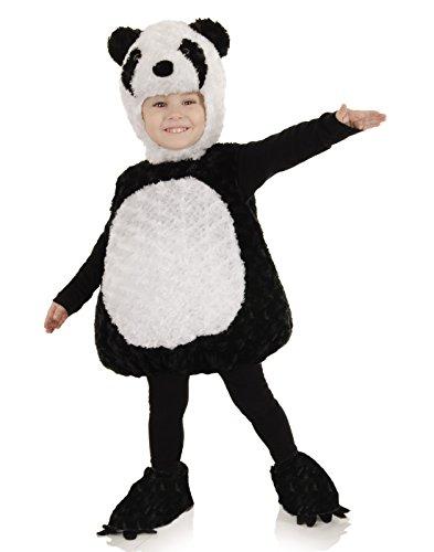 Panda Costumes Baby - Underwraps Baby's Panda Belly-Babies, Black/White, Large