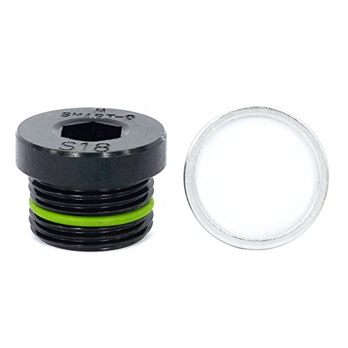 SMART-O S18 Oil Drain Plug M22x1.5mm - Engine oil Pan Protection Plug with Anti-leak & Anti-vibration function - Install Faster, Re-usable and Eco-friendly