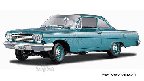 - Maisto - Chevy Bel Air Hard Top (1962, 1/18 scale diecast model car, Turquoise) 31641 diecast motorcycles and cars