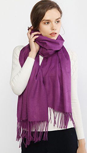 Cashmere Winter Scarf Long Large Soft Warm Pashmina Shawl Wrap for Women and Men by RIIQIICHY (Image #2)
