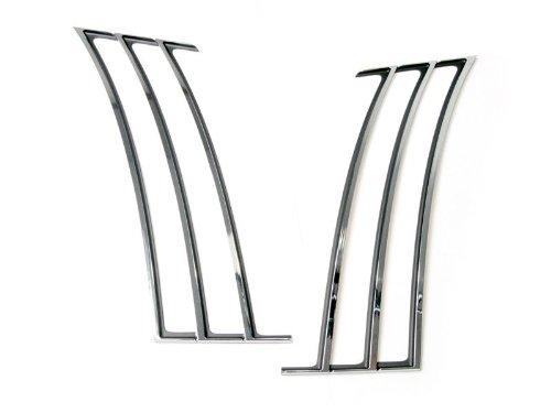 Drake Muscle Cars CA-190001-C Chrome Quarter Panel Trim for Chevrolet Camaro (Factory Quarter Panels)