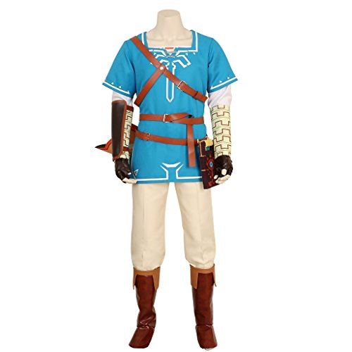 CG Costume Men's Legend Link Costume Zelda Cosplay XSmall