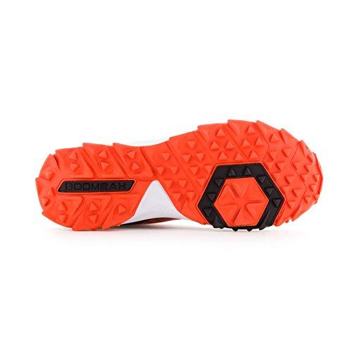 Boombah Mens Catalyst Mid Turf Shoes - 10 Opzioni Di Colore - Più Dimensioni Nero / Arancione