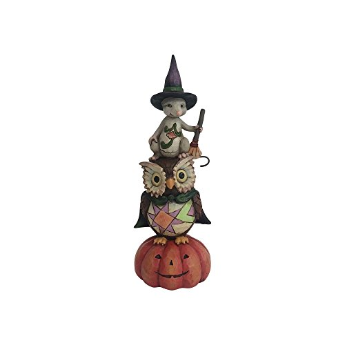 Enesco Jim Shore Heartwood Creek Pint Sized Stacked Owl/Mouse -