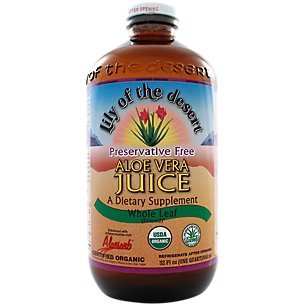 Lily of the Desert Aloe Juice, Preservative Free, Whole Leaf, 1 Quart (Packaging may ()