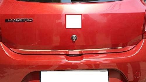 Compatible con Sandero Stepway tapa de puerta trasera de acero inoxidable cromado . 2013-2018