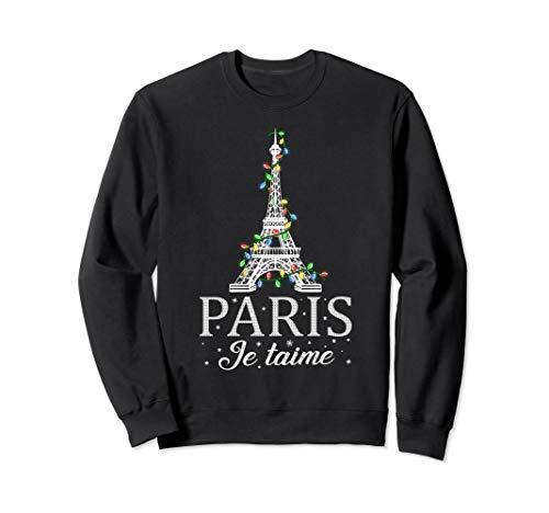 Retro Paris Je Taime Eiffel Tower Decorating Christmas Sweatshirt