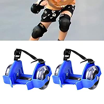 SolUptanisu Shoes Heel Roller, Kids Skates Shoes Roller, 1 Pair Kid Children Adjustable Strap Flash Skating Shoes Heel Wheel Roller Speed Roller Skate Sport Sneaker Roller : Sports & Outdoors