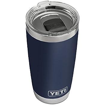 YETI Rambler 20 oz Stainless Steel Vacuum Insulated Tumbler w/MagSlider Lid, Navy
