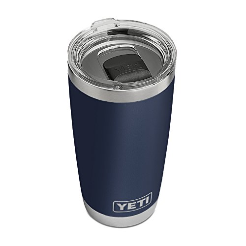 YETI Rambler 20 oz Stainless Steel Vacuum Insulated Tumbler w/MagSlider Lid, Navy by YETI