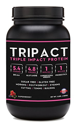 Tripact Protein - Grass Fed Whey Protein - Cold Processed - Superberry 3lb
