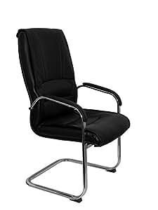 Piqueras Y Crespo 252CPNE - Sillón de recepción ergonómico, color negro