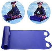 Roll Up Snow Sled Lightweight Snow Sled Portable Snow Rolling Slider Blue Flying Carpet Sled for Children Adul