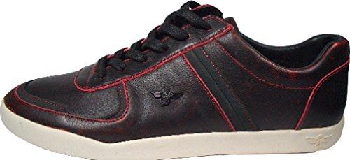 Creative Recreation Milano Low Negro de color rojo cr92–20Tamaño Euro 42/Us 9/UK 8/27cm