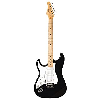 Austin Guitars AST100LBK - Guitarra eléctrica, color negro: Amazon.es: Instrumentos musicales