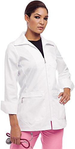 Zipper Front Lab Coat - 9