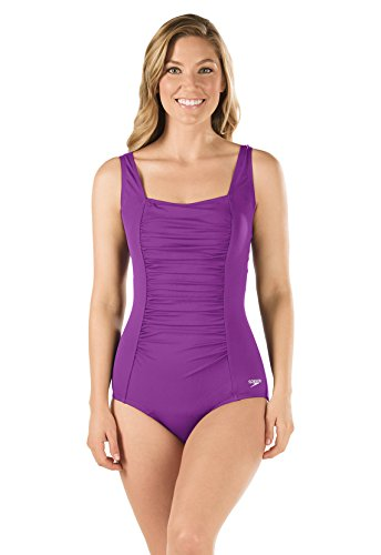 Speedo-7234015-Womens-Shirred-Tank-Speedo-Endurance-Vivid-Violet-12