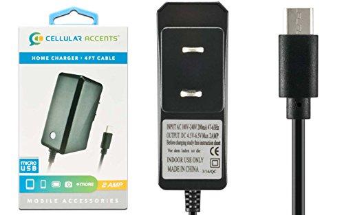 2 AMP New Micro USB AC Universal Battery Travel Home Wall Charger for Cell Phone Motorla Droid Razr HD / Maxx / Maxx HD Droid Razr M Electrify QA1 Pro Droid Bionic Atrix 2 HD Entice, LG Marquee Esteem Rumor (Lotus Elite Parts)