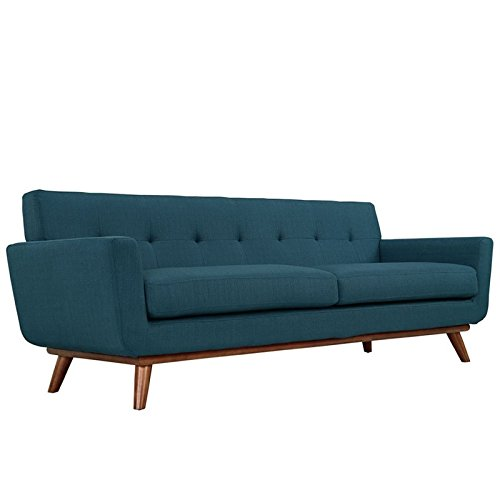 Amazon.com: Hawthorne Collections Sofa in Azure: Kitchen ...