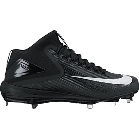 los angeles 6c0fb 2dbfd Amazon.com  Nike Force Zoom Trout Mid Cleats Spikes Shoes Mens Size 11.5 ( Black, White)  Sports   Outdoors