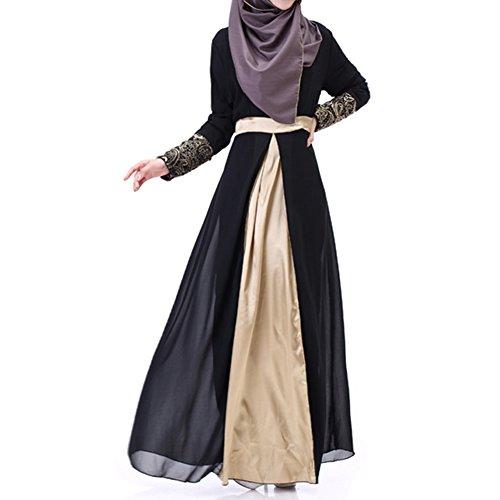 hibote Frauen islamischen Muslim Lange Hülse Kaftan Abaya Kleid ...