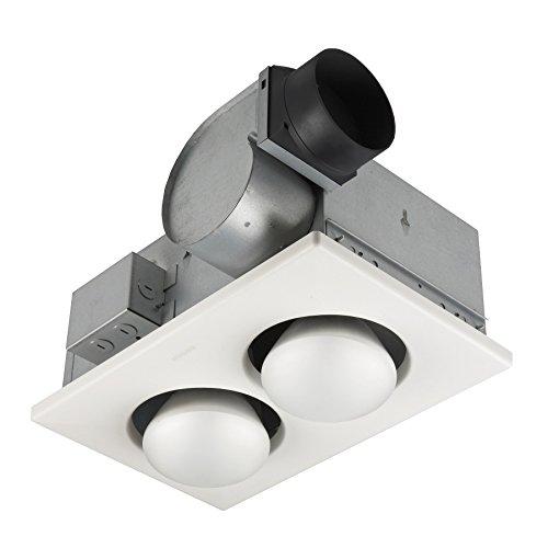 250w Bulb Heater - Broan 164 Type IC Infrared Two-Bulb Ceiling Heater with Fan, 250 Watt (Renewed)