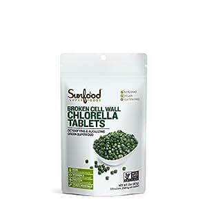 Sunfood Chlorella Tablets, 2oz