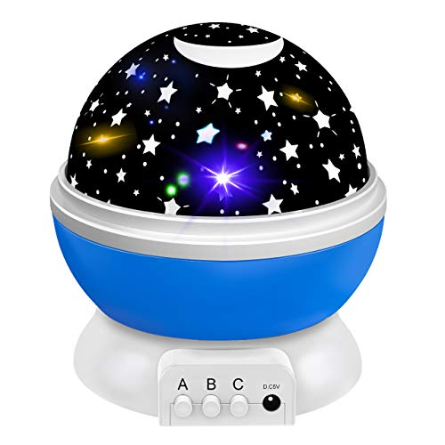 Popular Gifts for 2-10 Year Old Boys Girls, Starry Night Light Party Favor for Ksds Birthday Presents Toys for 2-10 Year Old Boys Christmas Xmas Stocking Stuffers Fillers for Boys Blue DMUSNB1 (2019 For Items Christmas Hot)