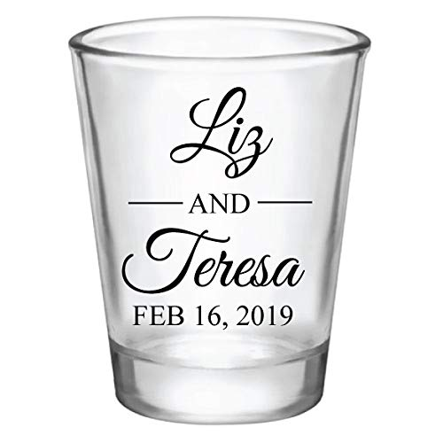 Wedding Shot Glasses.Personalized Wedding Shot Glasses Monogram Wedding Favors For Guests