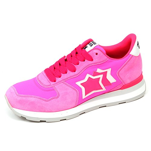 Sneaker Effect Vega Fluo Atlantic Donna Rosa Woman Shoe Pink Vintage D0940 Stars 4CWCwqn8E