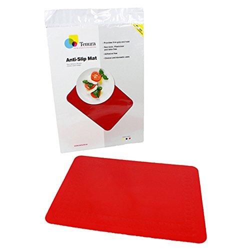 Maddak Tenura Red Silicone Non-Slip Table Mat, 13-3/4