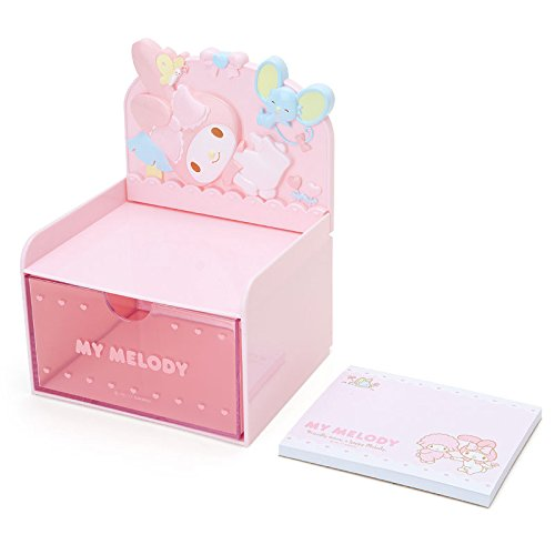 My Melody Desktop Chest With Memo Pad: Pink