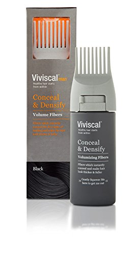 (Viviscal Man Conceal & Densify Volumizing Fibers, Black, 15 Gram)