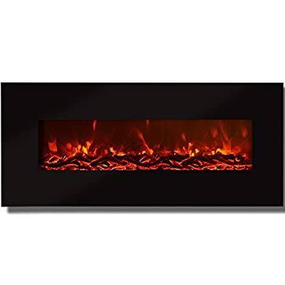 """Regal Flame Valencia Black 50"""" Log Ventless Heater Electric Wall Mounted Fireplace Better than Wood Fireplaces, Gas Logs, Fireplace Inserts, Log Sets, Gas Fireplaces, Space Heaters, Propane"""