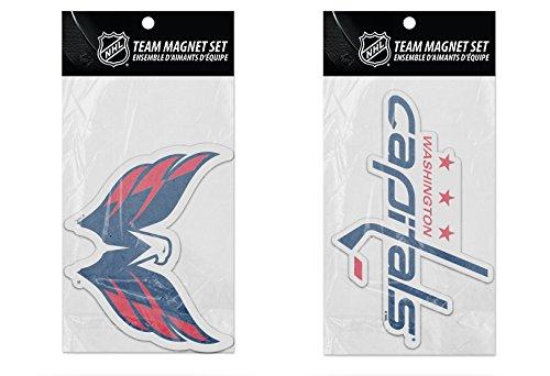 Rico Industries NHL Washington Capitals 2-Pack Die Cut Team Logo Magnet Set