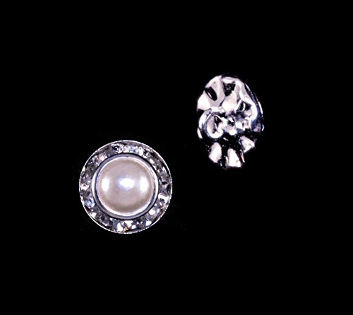 11mm Rondel Button with Imitation Pearl Center - 11789/11mm ()
