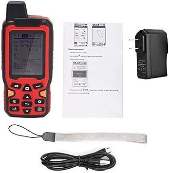 EU Plug ZL-180 Medidor de /área terrestre de seguimiento de navegaci/ón GPS de mano Pantalla de 2.4 pulgadas Topograf/ía terrestre Herramienta de medici/ón de pantalla de 100-240 V con GPS
