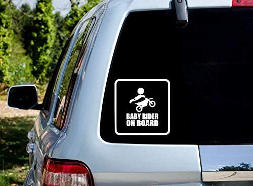 Baby on Board Motocross Rider Car Window Decal