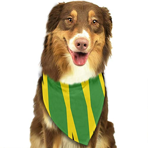 OURFASHION Originality Jamaica Flag Bandana Triangle Bibs Scarfs Accessories for Pet Cats and Puppies.Size is About 27.6x11.8 Inches (70x30cm). -