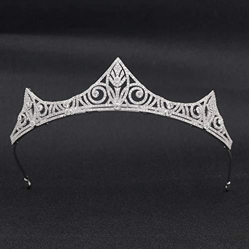 Classic Crystals Cubic Zirconia CZ Wedding Bridal Tiara Crown Diadem Women Hair Accessories CH10191