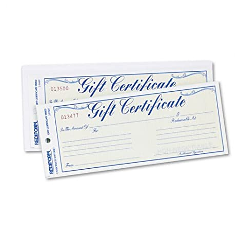 amazon com rediform gift certificates with envelopes 8 1 2w x 3