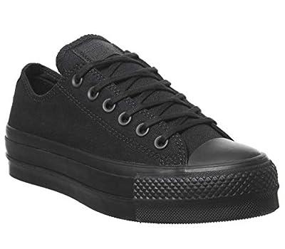 Converse Women's CTAS Lift Canvas Low Top Sneaker (10 M US, Black/Black/Black)