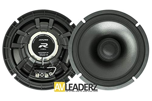 Rs Series Component - Alpine R-S65.2 R-Series 6 1/2-inch Coaxial 2-Way Speakers (Pair)