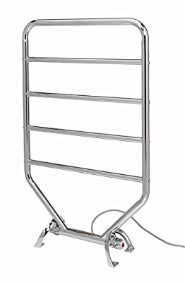 Jerdon RTC Warmrails Mid Size Wall Mounted or Floor Standing Towel Warmer, 34-Inches