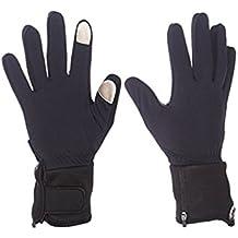 Mobile Warming Unisex-Adult Heated 7.4v Gloves Liner (Black, Medium)