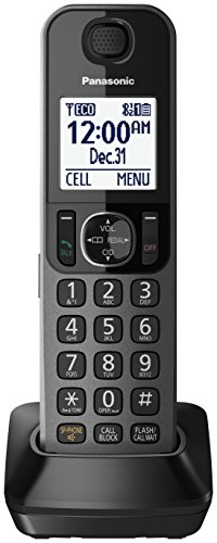 Panasonic Replacement Handset, Metallic Black