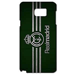 Real Madrid CF Green Background Logo Nobby Plastic Phone Case for Samsung Galaxy Note 5