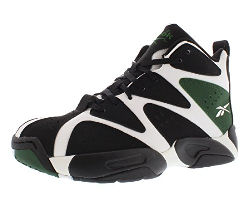 Reebok Unisex Kamikaze I Mid  White/Black/Racing Green Sneak