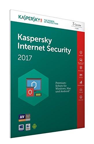 Kaspersky Internet Security 2017 3 Geräte - [Online Code] (Frustfreie Verpackung)