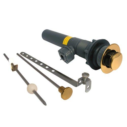 Polished Brass Lavatory Drain - LASCO 03-4635 Plastic Lavatory Pop Up Drain Assembly, 1 1/4-Inch, Polished Brass Finish